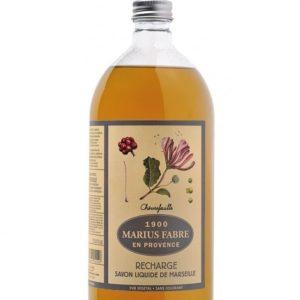 sapone liquido di marsiglia 1000ml ricarica con caprifoglio marius fabre tec-terreecolori calestano-parma