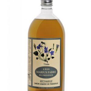 sapone liquido di marsiglia 1000ml ricarica con violette marius fabre tec-terreecolori calestano-parma