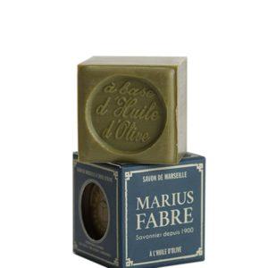 sapone di marsiglia con olio d'oliva cubo 100gr marius fabre tec-terreecolori calestano-parma