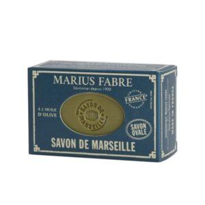 sapone di marsiglia all'olio d'oliva ovale 150gr marius fabre tec-terreecolori calestano-parma