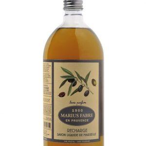 sapone liquido di marsiglia 1000ml ricarica inodore marius fabre tec-terreecolori calestano-parma