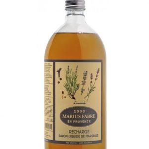 sapone liquido di marsiglia 1000ml ricarica con lavanda marius fabre tec-terreecolori calestano-parma