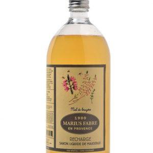 sapone liquido di marsiglia 1000ml ricarica miele bruyère marius fabre tec-terreecolori calestano-parma