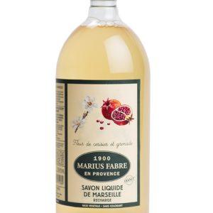 sapone liquido di marsiglia fiore di ciliegio e melograno 1000ml marius fabre tec-terreecolori calestano-parma