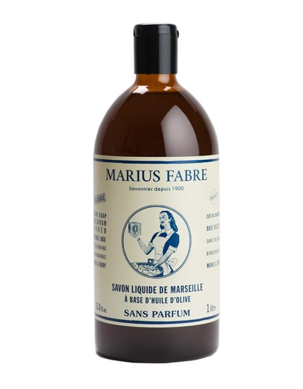 sapone liquido di marsiglia inodore 1000ml marius fabre tec-terreecolori calestano-parma