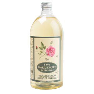 sapone liquido di marsiglia profumato alla rosa 1000ml marius fabre tec-terreecolori calestano-parma