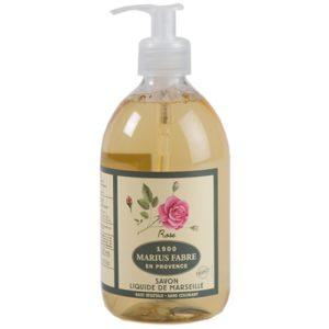 sapone liquido di marsiglia profumato alla rosa marius fabre tec-terreecolori calestano-parma