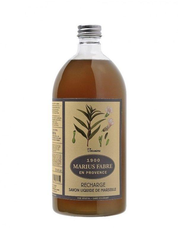 sapone liquido di marsiglia profumato con verbena 1000ml marius fabre tec-terreecolori calestano-parma