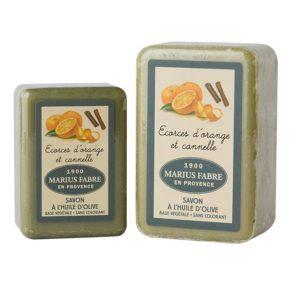sapone con olio d'oliva 150-250gr buccia d'arancia e cannella marius fabre tec-terreecolori calestano-parma