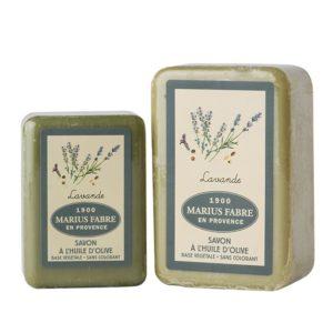 sapone all'olio d'oliva 150-250gr e lavanda marius fabre tec-terreecolori calestano-parma