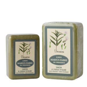 sapone con olio d'oliva 150-250gr verbena marius fabre tec-terreecolori calestano-parma