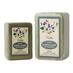 sapone all'olio d'oliva 150-250gr con violette marius fabre tec-terreecolori calestano-parma